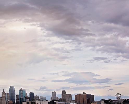 Kansas City Rainbow Skyline