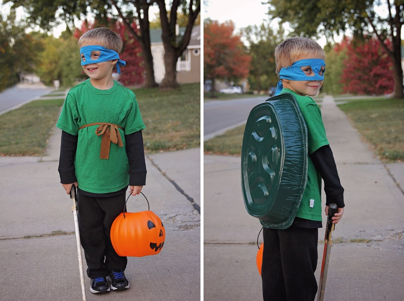 DIY Halloween Ninja Turtle
