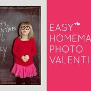 Easy DIY Photo Valentines