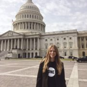 Megan at the US Capitol for ONE